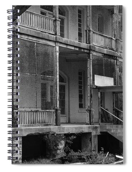 Ghost At The Asylum Spiral Notebook