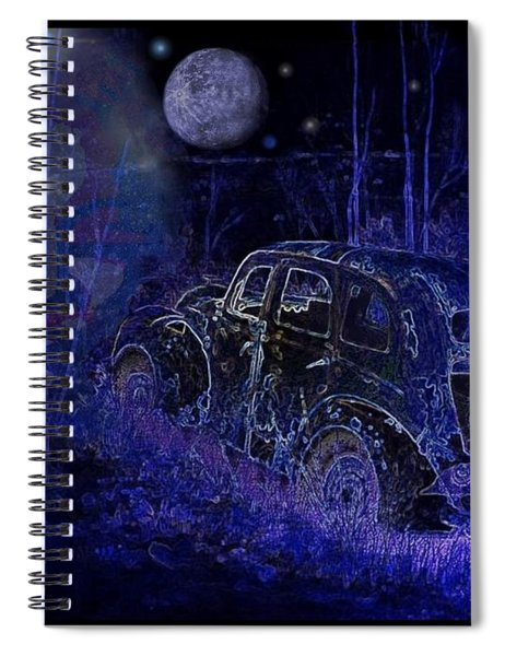 Ghost  Car Spiral Notebook