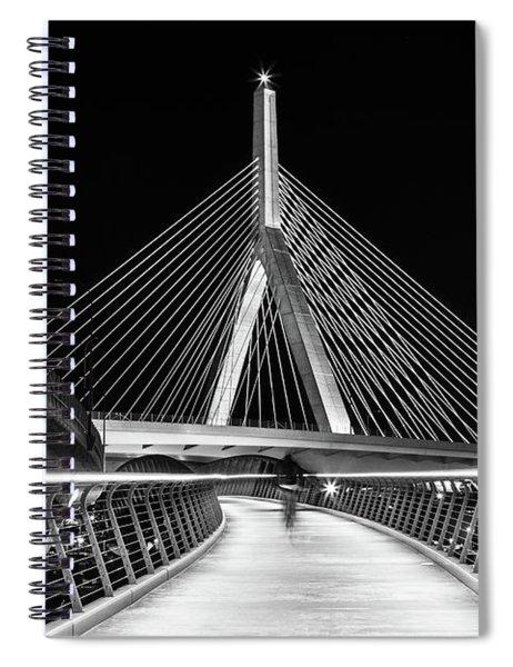 Ghost Rider At Zakim Bridge Spiral Notebook