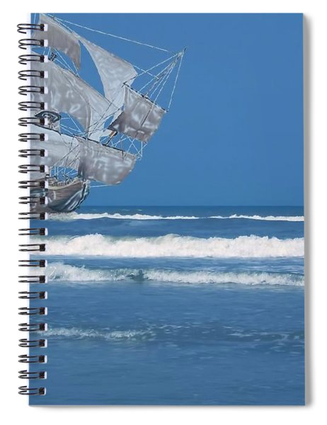 Ghost Ship On The Treasure Coast Spiral Notebook