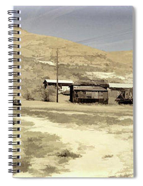 Ghost Town Textured Spiral Notebook