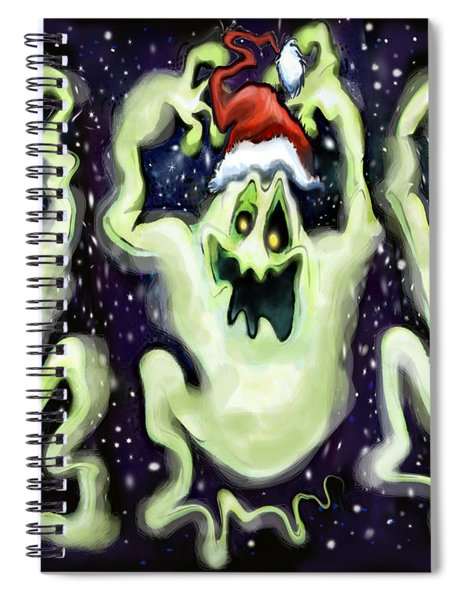 Ghostly Christmas Trio Spiral Notebook