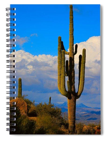 Giant Saguaro In The Southwest Desert  Spiral Notebook