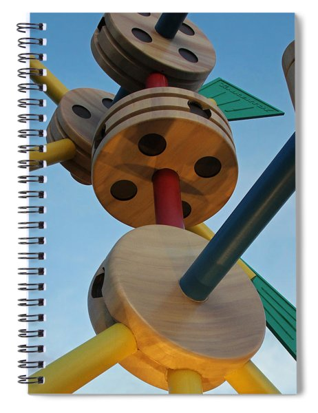 Giant Tinker Toys Spiral Notebook
