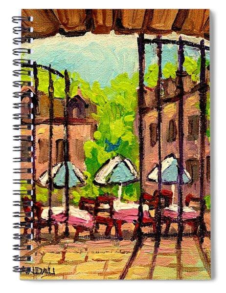 Gibbys Restaurant In Old Montreal Spiral Notebook