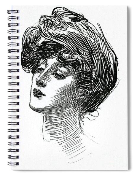 Gibson Girl 1902 Spiral Notebook