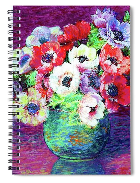 Gift Of Anemones Spiral Notebook