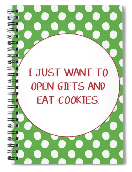 Gifts And Cookies- Art By Linda Woods Spiral Notebook