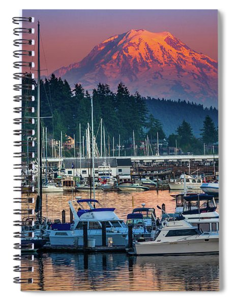 Spiral Notebook featuring the photograph Gig Harbor Dusk by Inge Johnsson