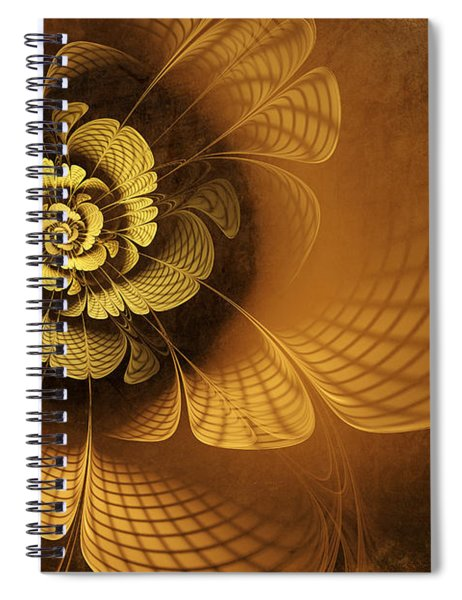 Gilded Flower Spiral Notebook