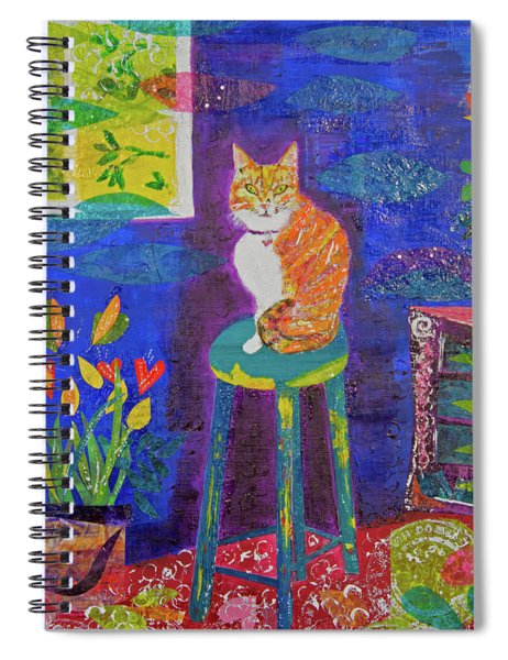 Ginger The Cat Spiral Notebook