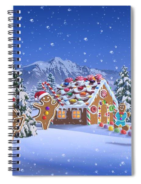 Gingerbread House Spiral Notebook