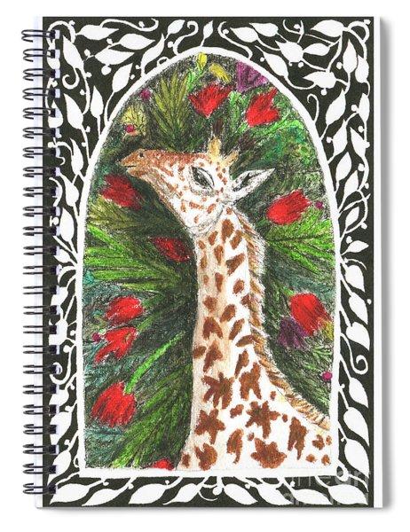 Giraffe In Archway Spiral Notebook