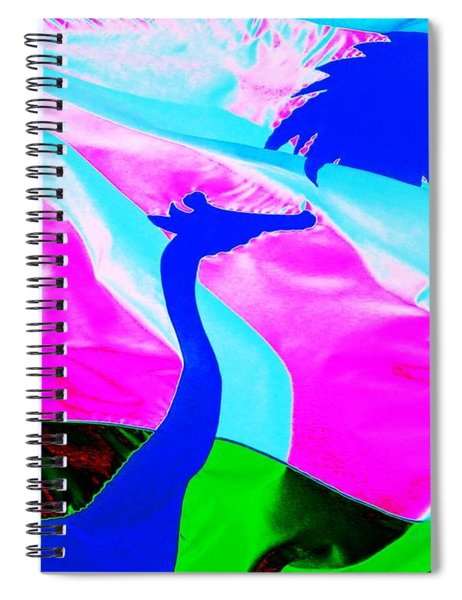 Giraffe In The Wind Spiral Notebook