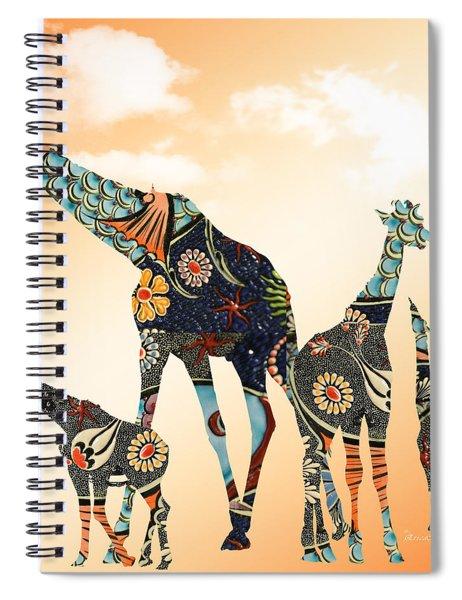 Giraffe Stroll Spiral Notebook