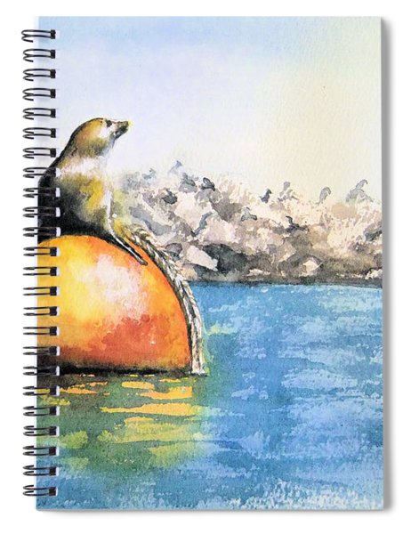 Girl And Buoy Spiral Notebook