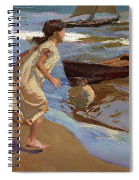 Girl Entering The Bath Spiral Notebook