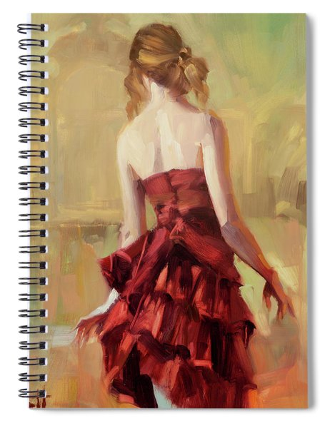Girl In A Copper Dress II Spiral Notebook