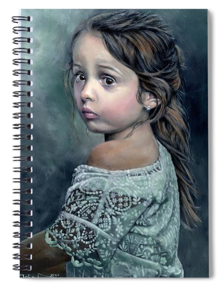 Girl In Lace Spiral Notebook