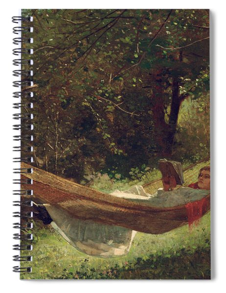 Girl In The Hammock Spiral Notebook