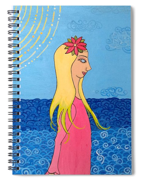 Girl In The Water Spiral Notebook