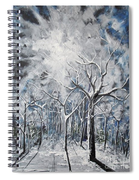 Girl In The Woods Spiral Notebook