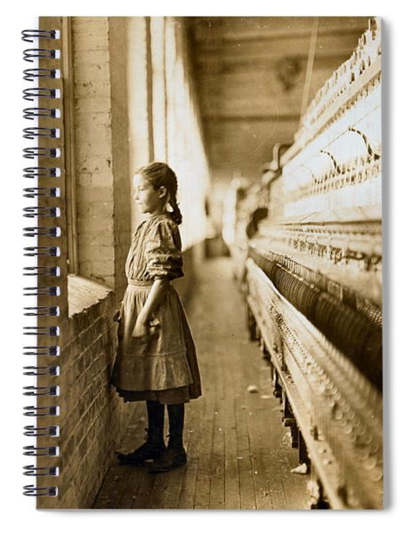 Girl Spinner 11 Years Old Rhodes Manufacturing Co Lincolnton 1908 Spiral Notebook