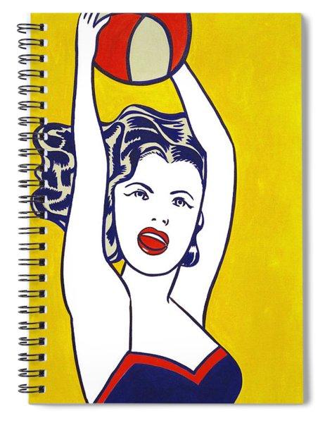 Girl With Ball - Pop Art - Roy Lichtenstein Spiral Notebook