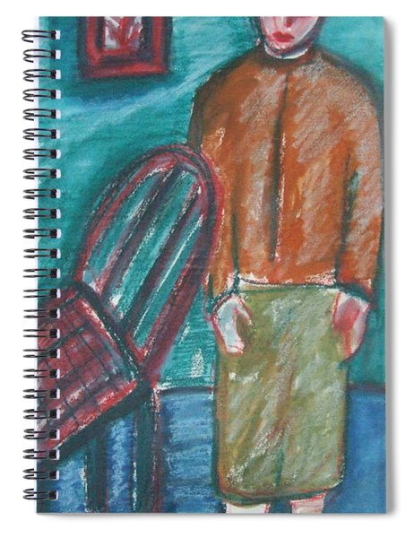 Girl With Chair Spiral Notebook
