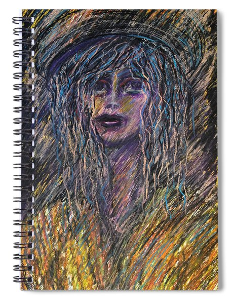 Girl With Hat Spiral Notebook