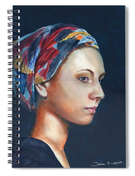 Girl With Headscarf Spiral Notebook