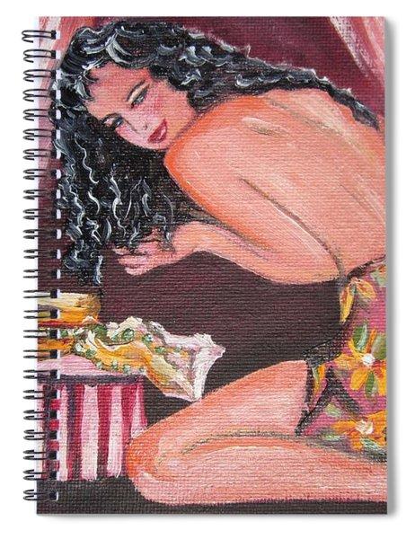 Blaa Kattproduksjoner                 Girl With New Hat Spiral Notebook