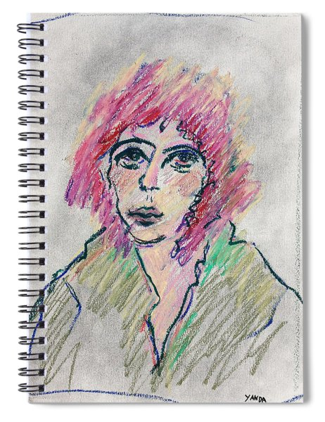 Girl With Pink Hair  Spiral Notebook