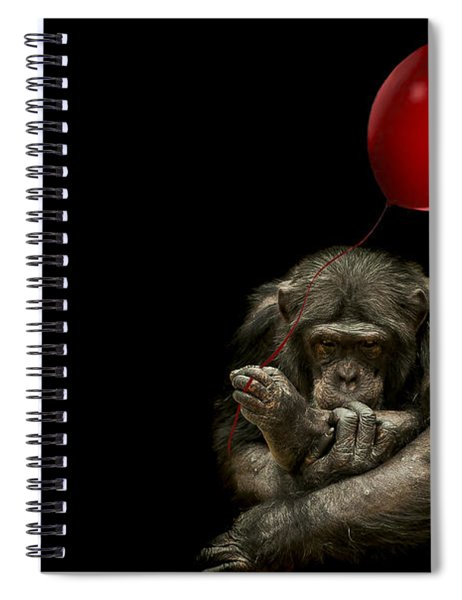 Girl With Red Balloon Spiral Notebook