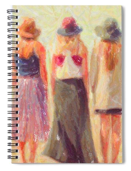 Girlfriends At The Beach Spiral Notebook