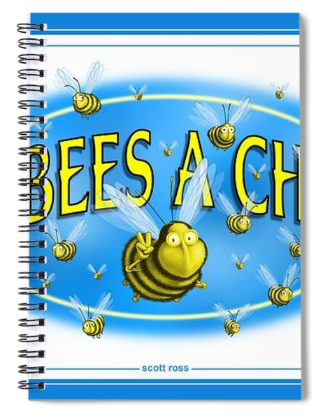 Give Bees A Chance Spiral Notebook