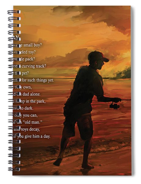 Give Him A Day Spiral Notebook