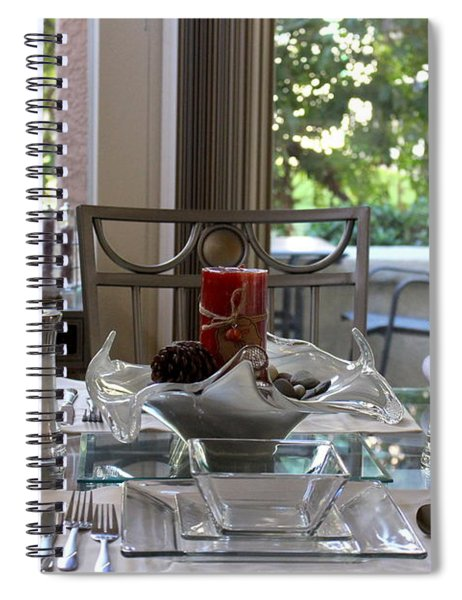 Giving Thanks In California Thanksgiving Table Spiral Notebook