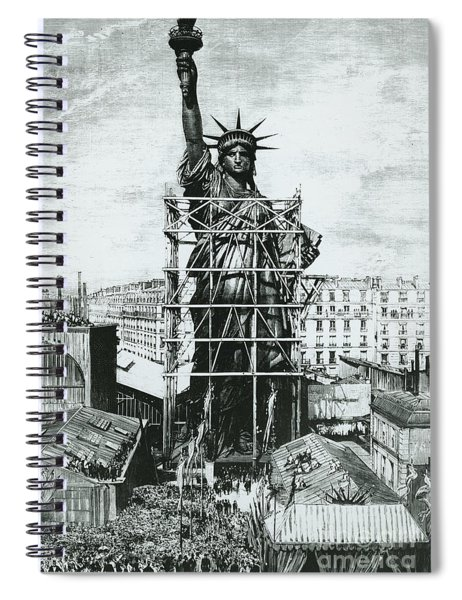Giving The Statue Of Liberty To United States Ambassador Spiral Notebook
