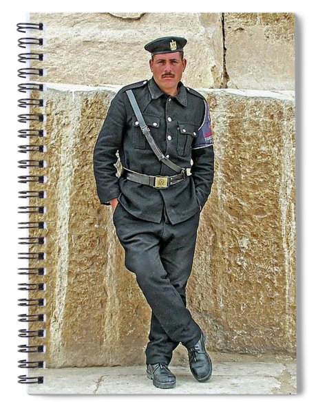 Giza Pyramid Police - Cairo, Egypt Spiral Notebook