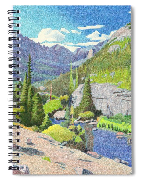 Glacier Gorge Spiral Notebook