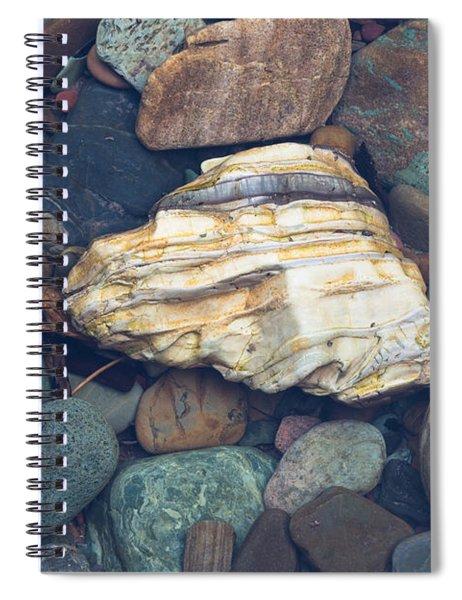 Glacier Park Creek Stones Submerged Spiral Notebook