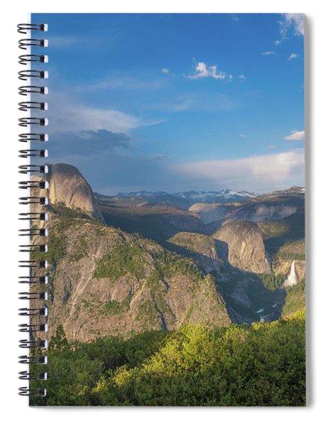 Glacier Point Amphitheater  Spiral Notebook