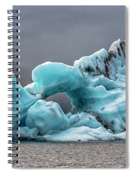 Glacier With Hole Spiral Notebook
