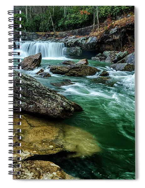 Glade Creek And Grist Mill Spiral Notebook