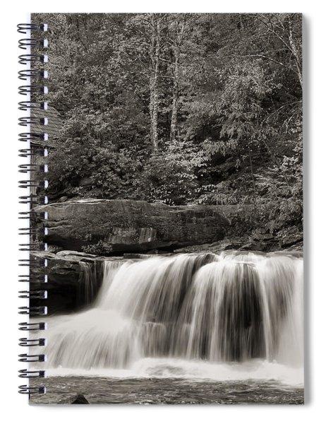 Glade Creek Grist Mill Monochrome Spiral Notebook