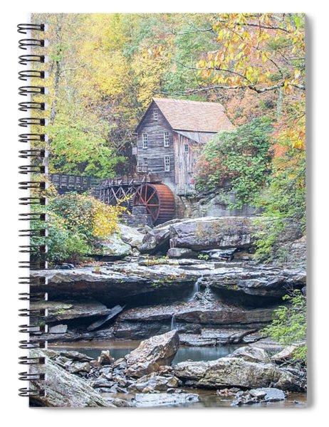 Glade Creek Grist Mill In Autumn Spiral Notebook