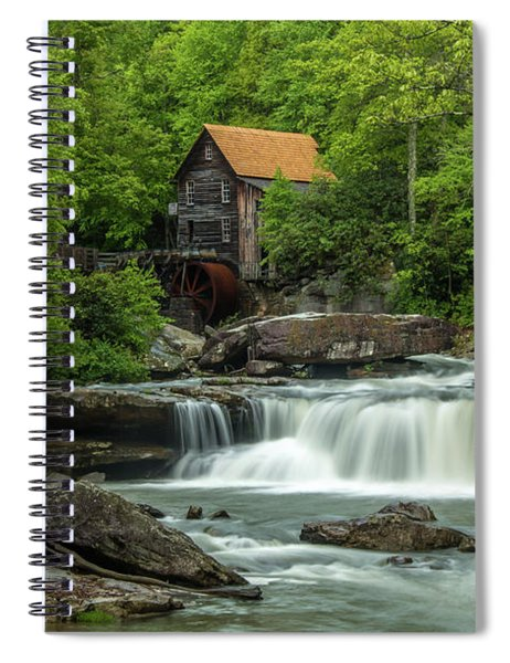 Glade Creek Grist Mill In May Spiral Notebook