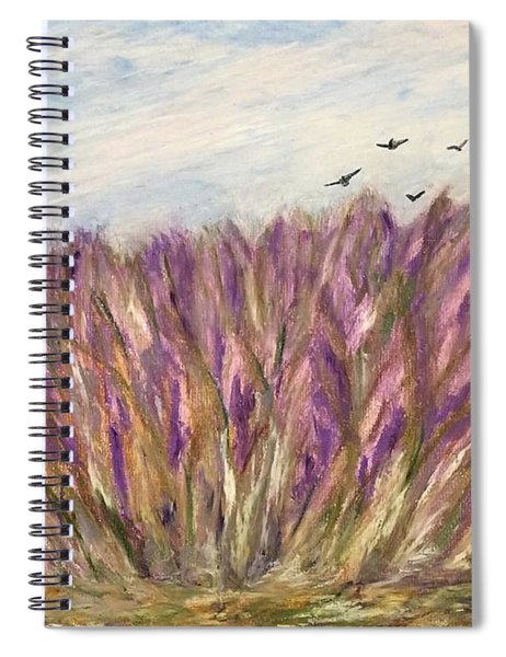 Gladiolus Field Spiral Notebook