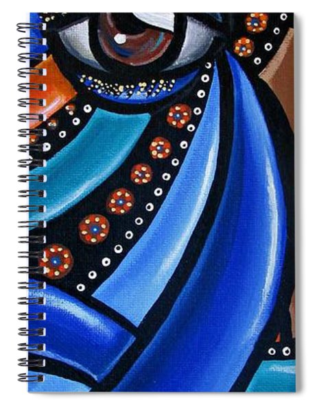 Abstract Eye Art Acrylic Eye Painting Surreal Colorful Chromatic Artwork Spiral Notebook